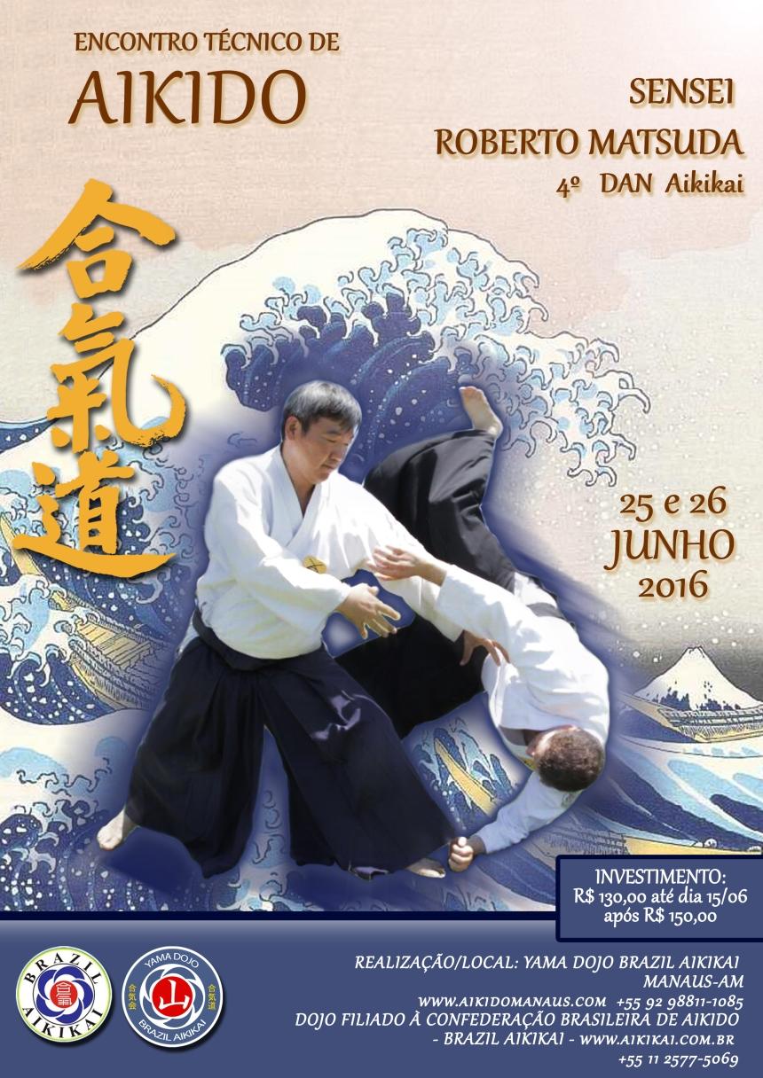 Cartaz Encontro Técnico Aikido Yama Matsuda